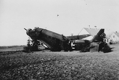 JU 52 serial number 6279 crash landed Aalborg Ost 9/4 1940